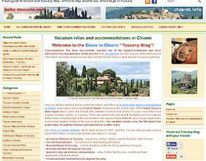 Tuscany blog Wordpress content management system