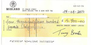 Fake cheque internet fraud