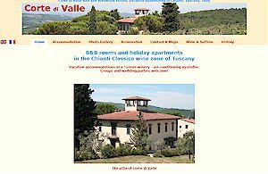 Corte di Valle B&B rooms and holiday apartments in the Chianti Classico wine zone of Tuscany